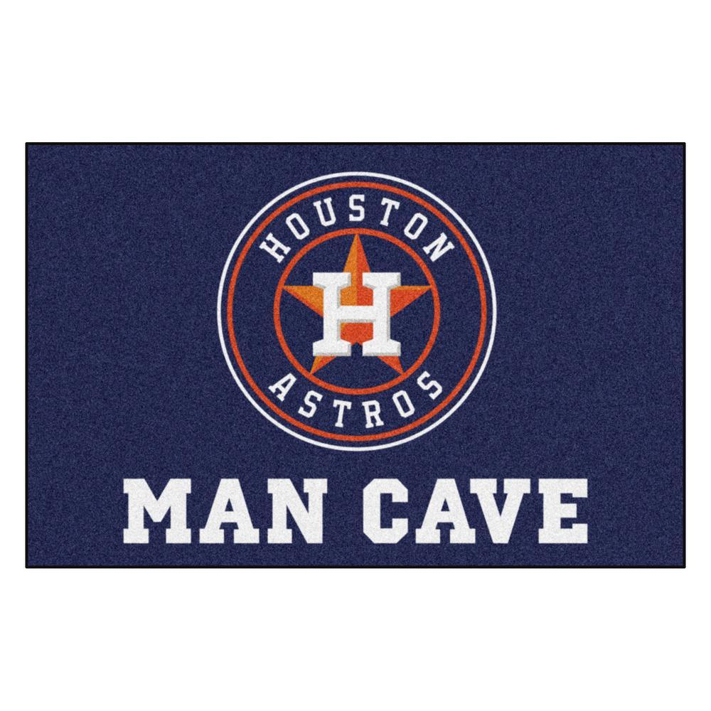 MLB - Houston Astros 19 in. x 30 in. Indoor Man Cave Starter Area Rug
