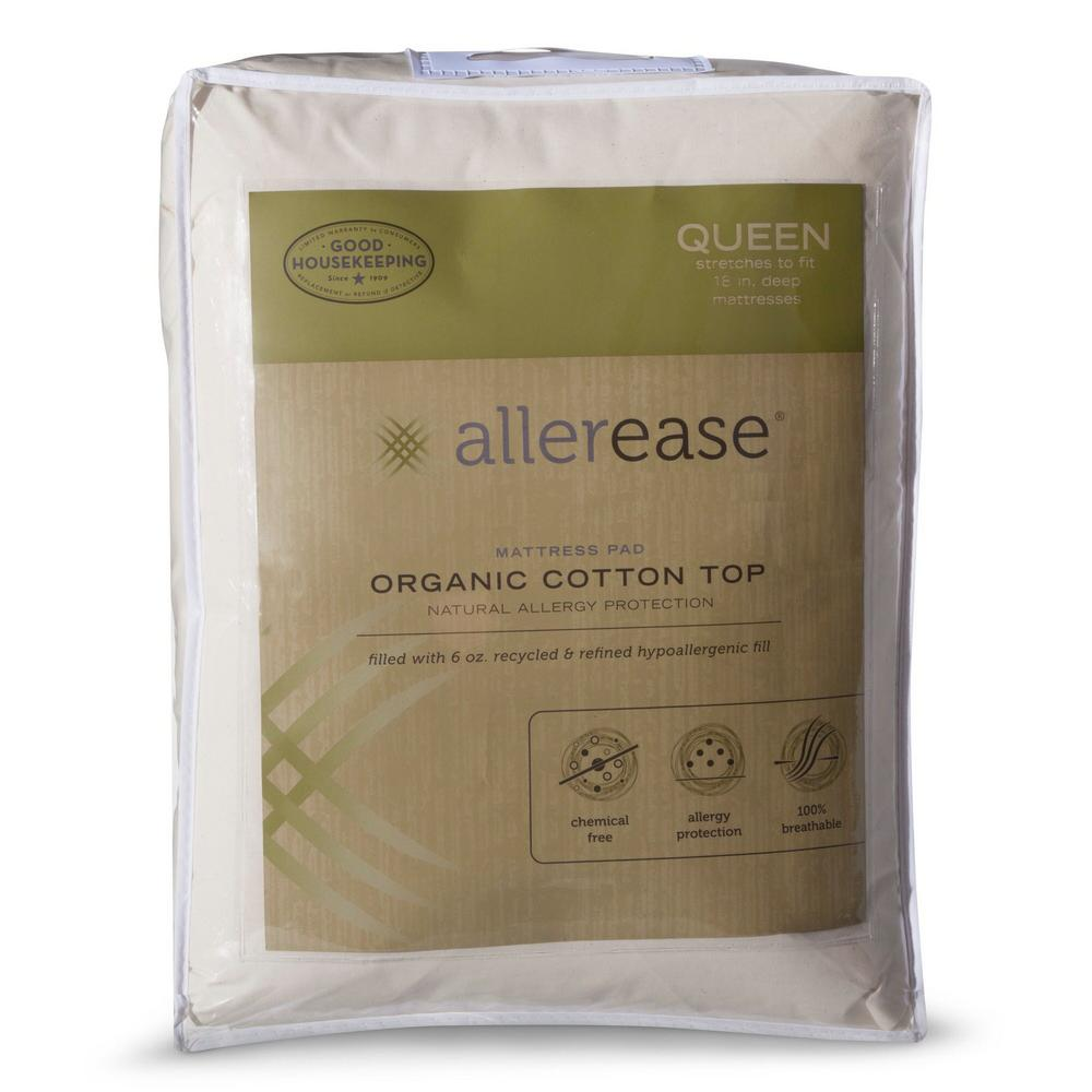 Organic Queen Cotton Top Mattress Pad