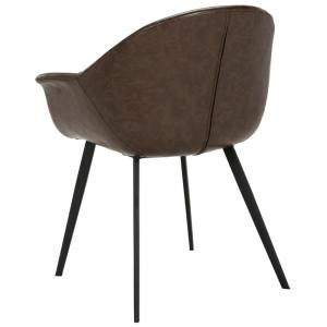 Brilliant Safavieh Dublin Dark Brown Black Leather Dining Chair Set Caraccident5 Cool Chair Designs And Ideas Caraccident5Info