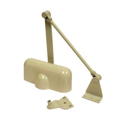 Light-Duty Ivory Aluminum Residential Hold-Open Door Closer
