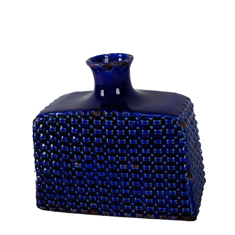 Abia Cobalt Ceramic Vase
