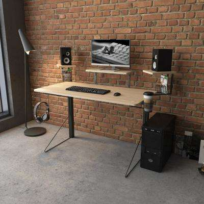 Carnegie Black/Natural Gaming Desk