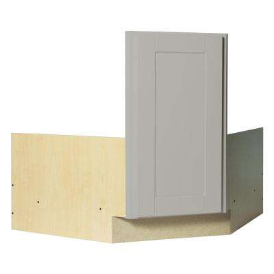 Shaker Ready to Assemble 36 x 34.5 x 24 in. Corner Sink Base Kitchen Cabinet in Dove Gray
