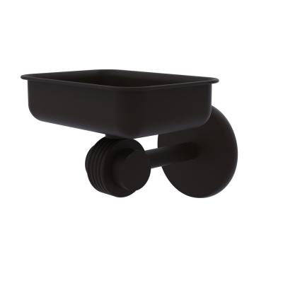 Satellite Orbit Two Collection Wall Mounted Soap Dish with Groovy Accents in Oil Rubbed Bronze