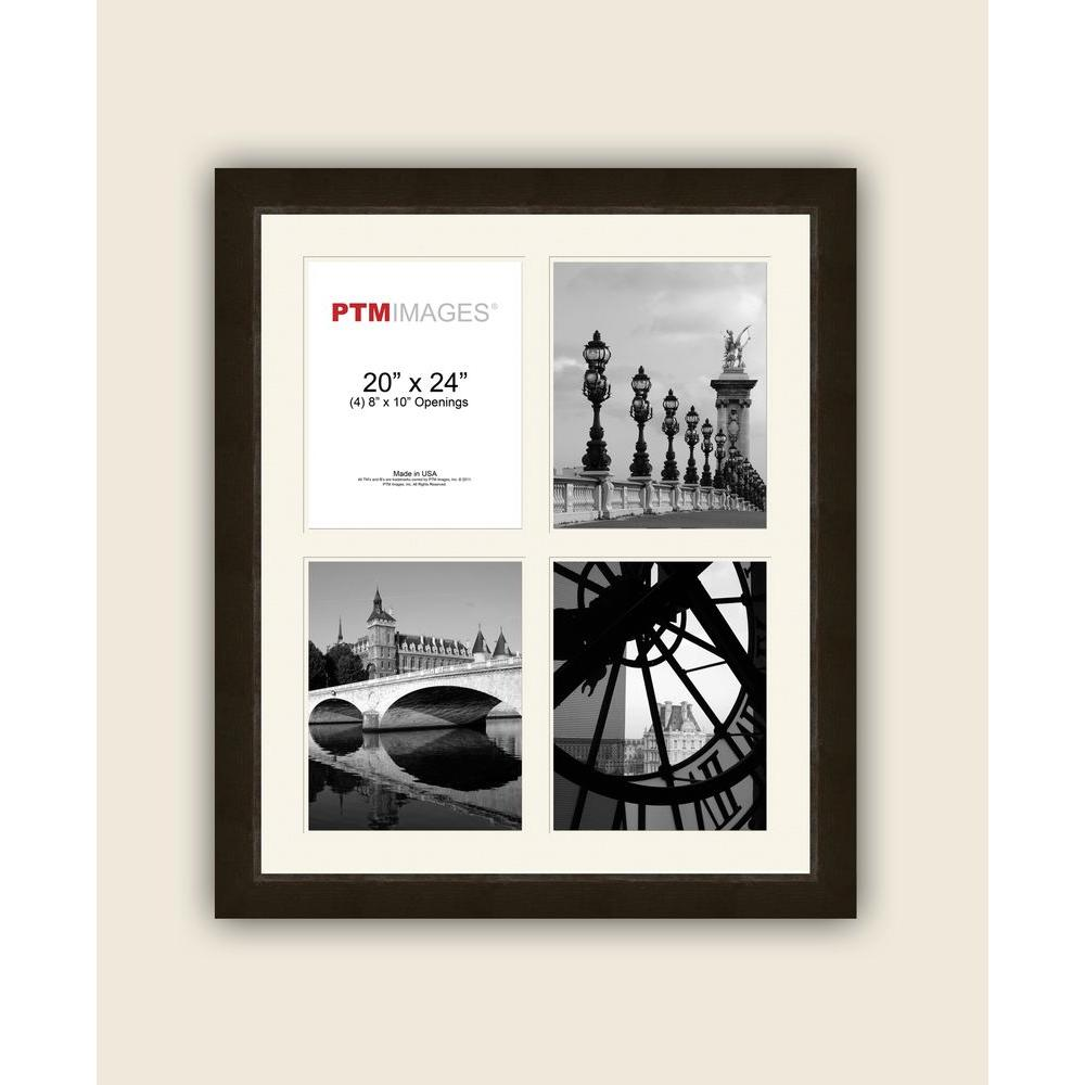 PTM Images 4-Opening 8 in. x 10 in. White Matted Espresso Photo ...