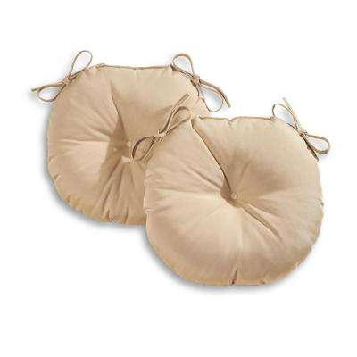 Solid Stone 18 in. Round Outdoor Seat Cushion (2-Pack)