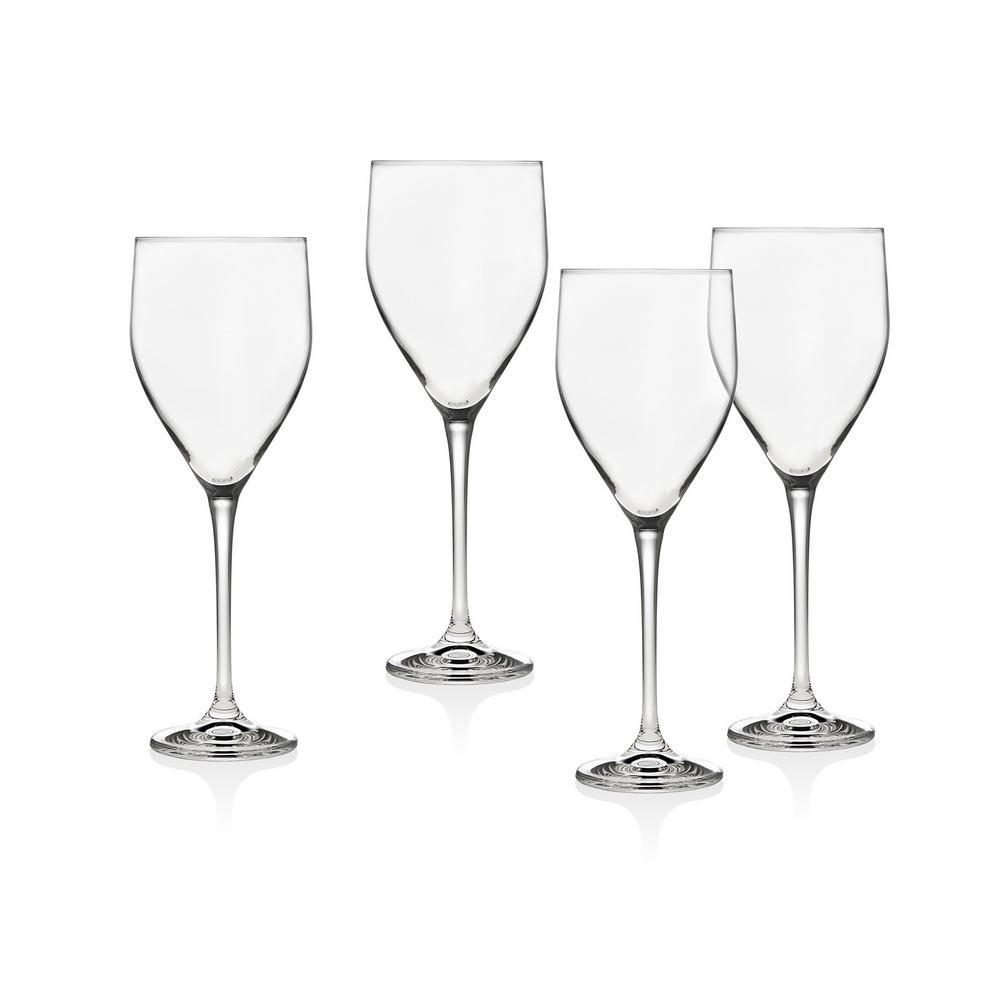 Godinger Pivot 12 Oz White Wine Goblet Set Of 4 22602 The Home Depot