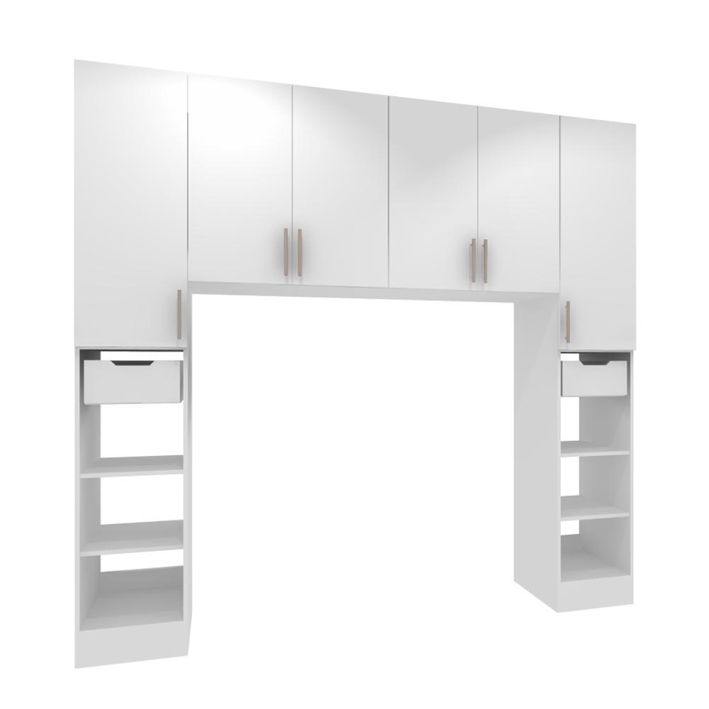 Horizon 90 in. W White Tower Storage Laundry Cabinet Kit