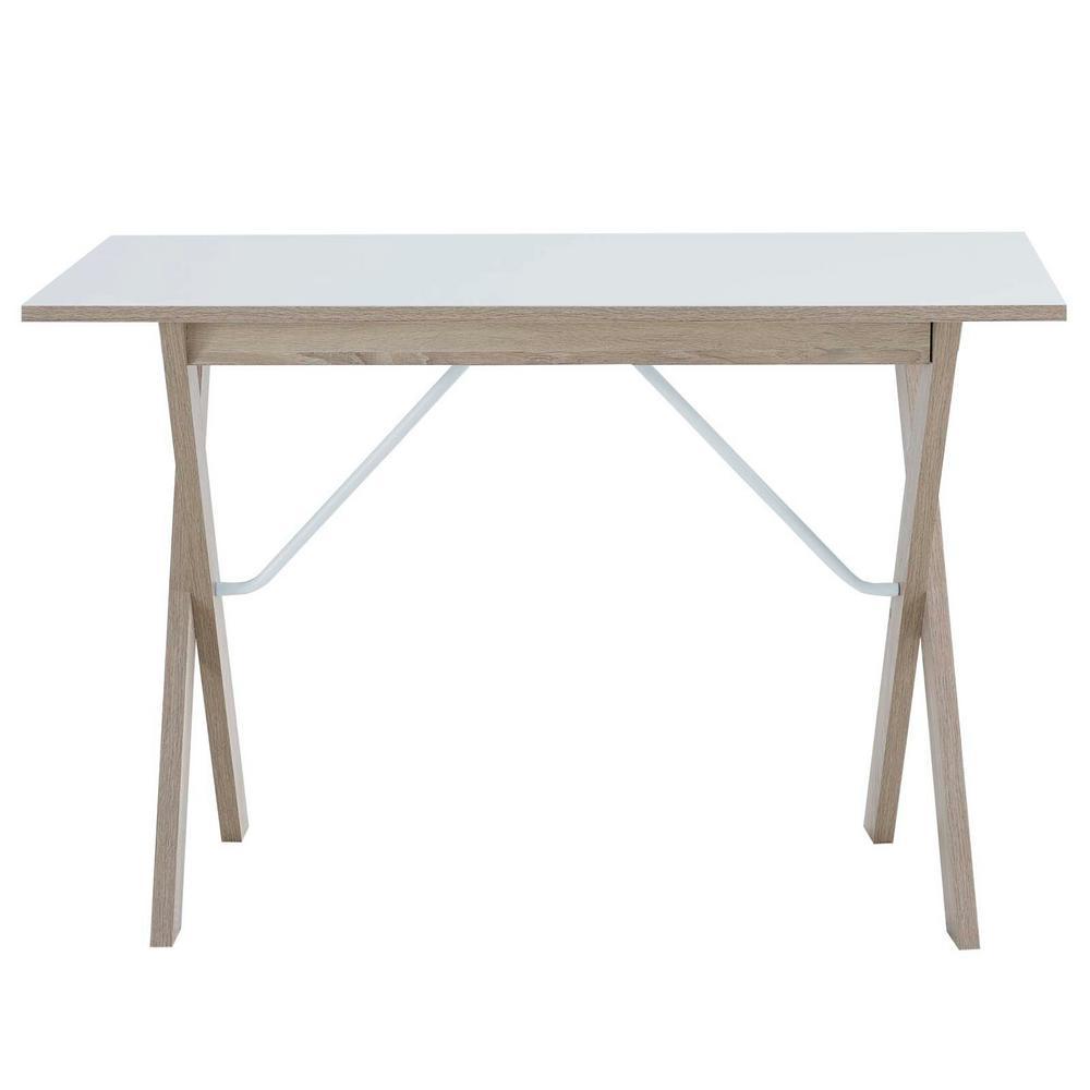 Expanse Natural White Wood Writing Desk