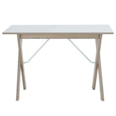 Expanse Natural White Wood Writing Desk
