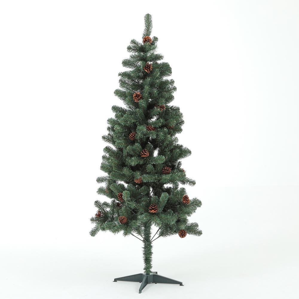 6 ft. Colorado Pine Christmas Tree with Pinecones