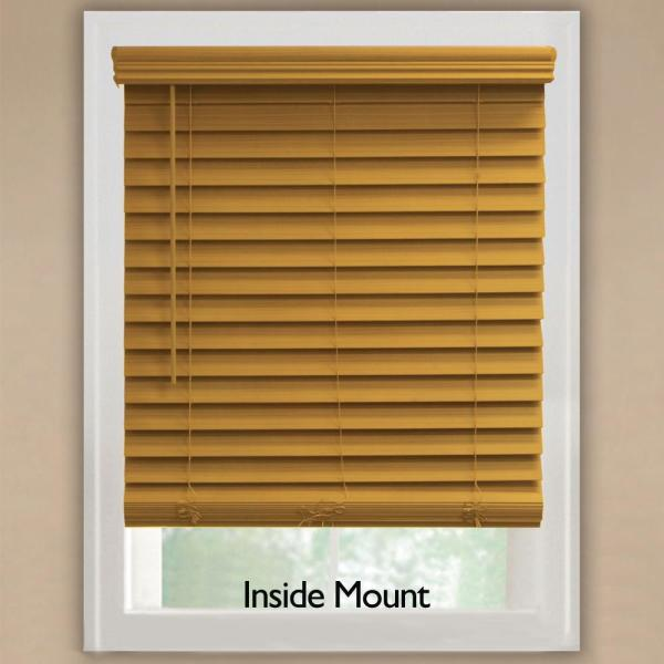 Home Decorators Collection Chestnut 2 1 2 In Cordless Premium Faux Wood Blind 23 In W X 48 In L Actual Size 22 5 In W X 48 In L 10793478395125 The Home Depot