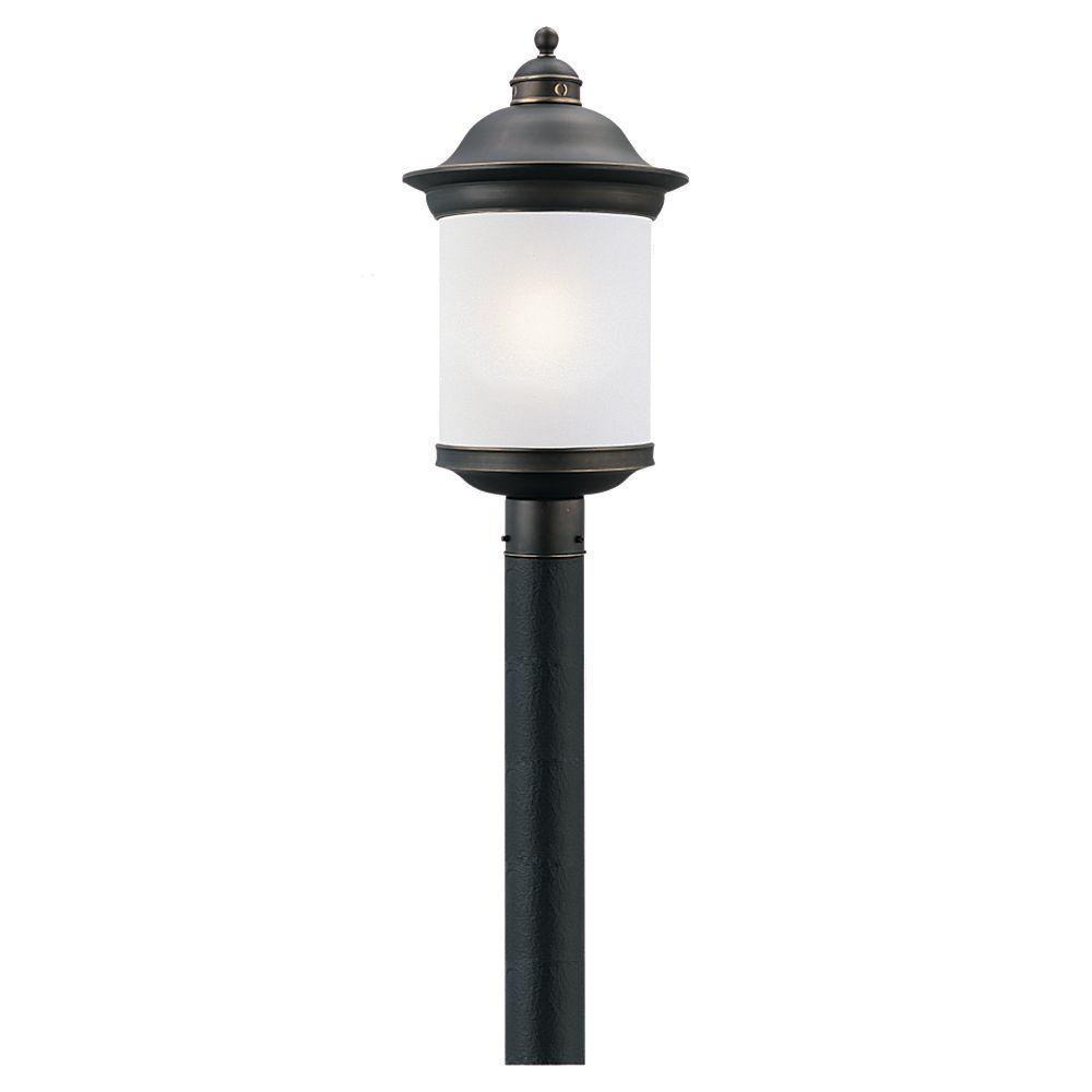 Sea Gull Lighting Hermitage 1-Light Outdoor Antique Bronze Post Top