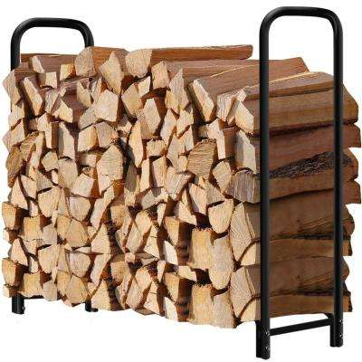 4 ft. Firewood Storage Log Rack Round Tube Steel