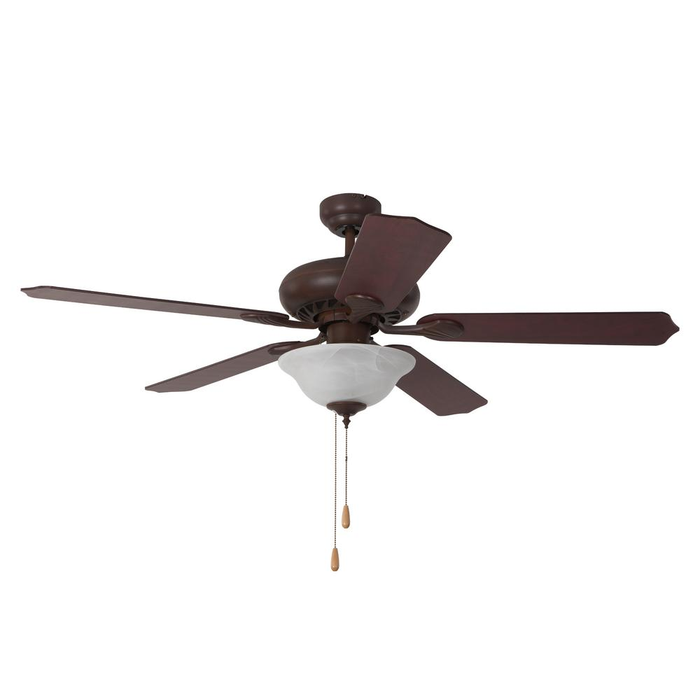 Dark Brown Ceiling Fan With 3 Light And