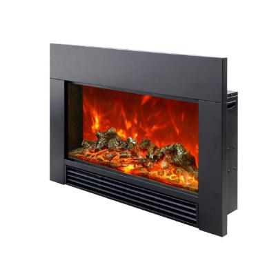 38 in. LED Electric Fireplace Insert in Black
