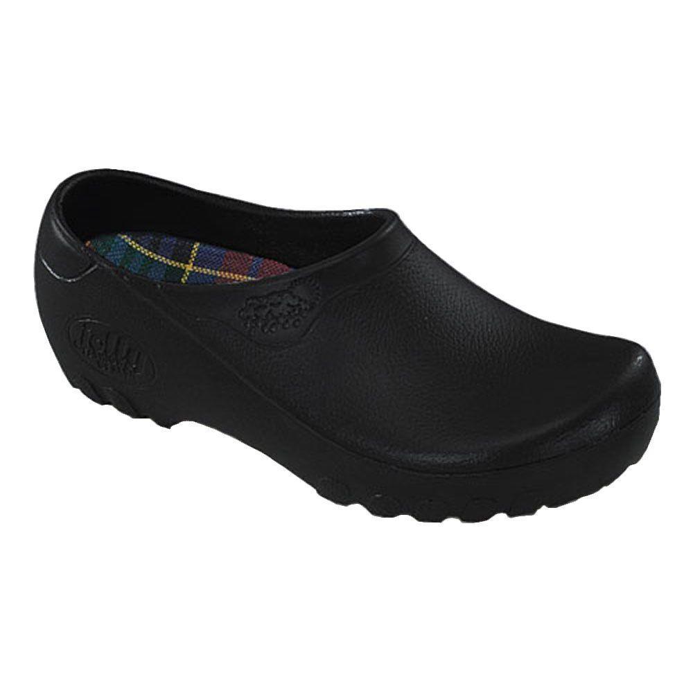 Men's Black Garden Shoes - Size 8