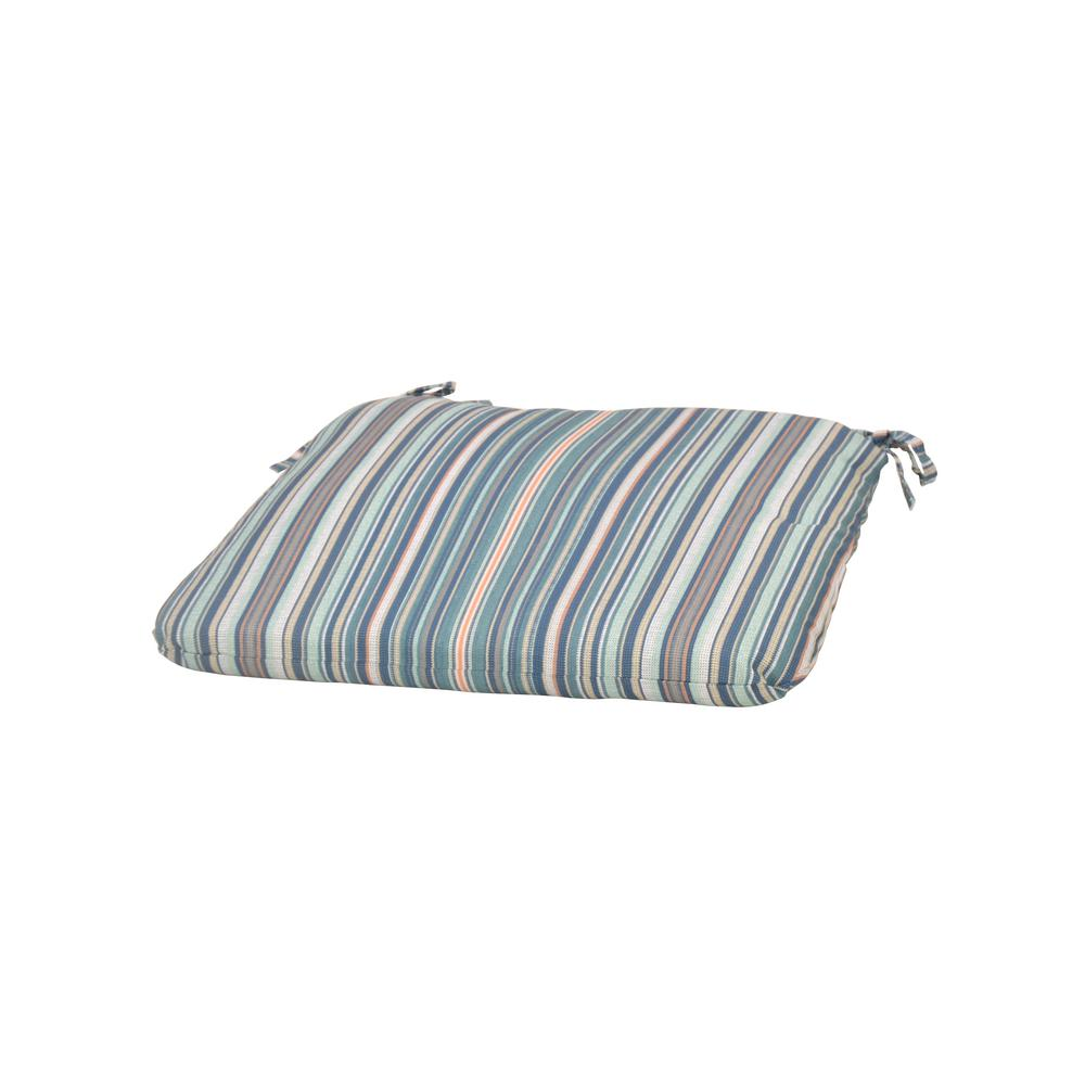 Charleston Stripe Square Outdoor Seat Cushion