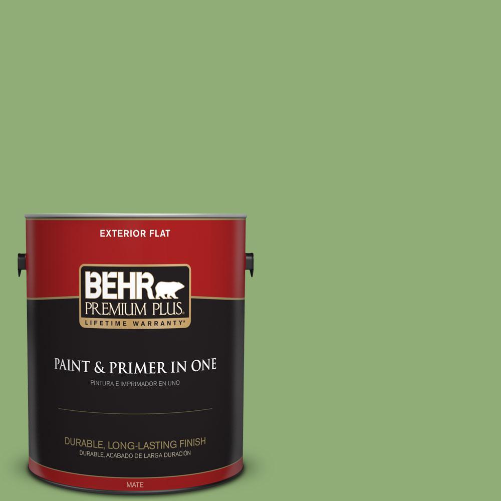 BEHR Premium Plus 1-gal. #430D-5 Geranium Leaf Flat Exterior Paint