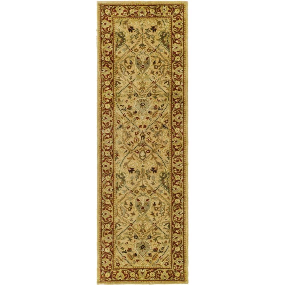 Persian Legend Ivory/Rust 3 ft. x 14 ft. Runner Rug