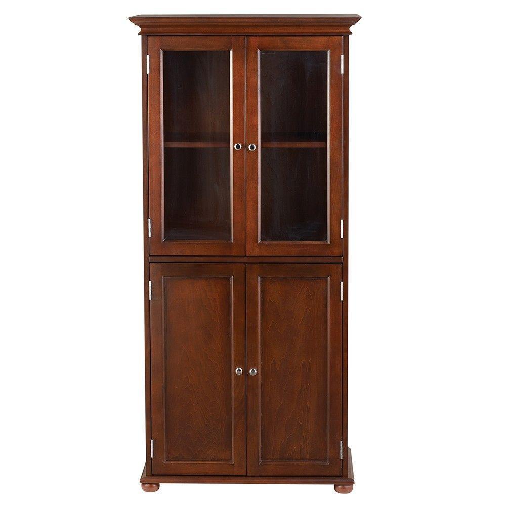 Home Decorators Collection Hampton Harbor 25 In W Linen Cabinet In Sequoia 2601200960 The