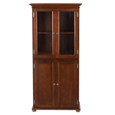 Hampton Harbor 25 in. W Linen Cabinet in Sequoia