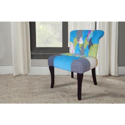 Pacific Coastal Patchwork Slipper Chair (Set of 1)