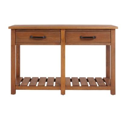 Danforth Rectangular Antique Patina Finish Wood 2 Drawer Console Table (48 in. W x 30 in. H)