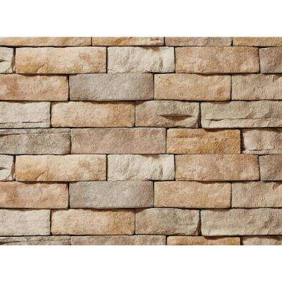 12 in. x 4 in. Manufactured Stone Ledgestone Tan Flat Siding (5 sq. ft. Pack)