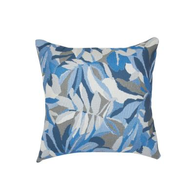Dewey Blue Square Accent Throw Pillow