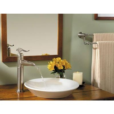 Ashfield Single Hole Single-Handle Vessel Bathroom Faucet in Brushed Nickel
