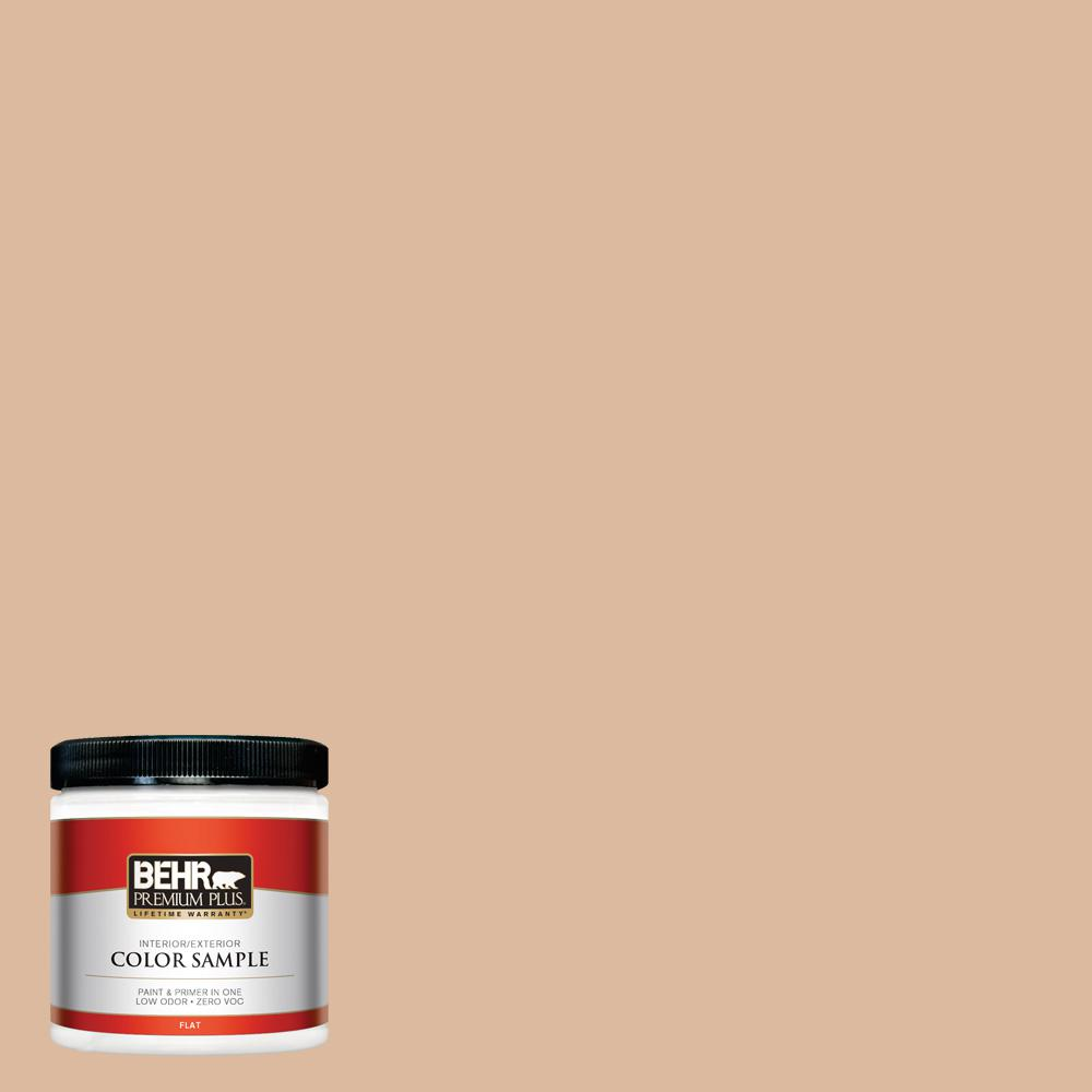 8 oz. #PPU3-09 Pumpkin Cream Flat Interior/Exterior Paint Sample