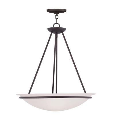 Providence 3-Light Bronze Incandescent Ceiling Pendant
