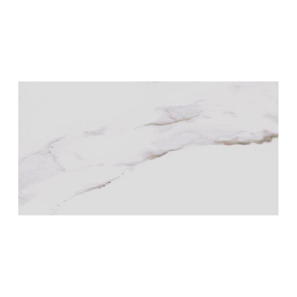 MARAZZI Developed by Nature Calacatta 12 in. x 24 in. Glazed ...