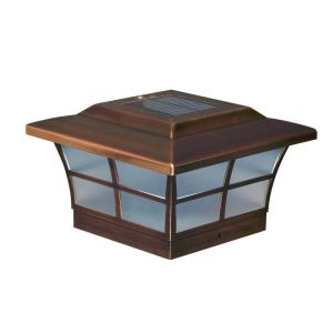 Classy Caps 6 inch x 6 inch Copper Plated Prestige Outdoor Solar Post Cap (2-Pack) by Classy Caps