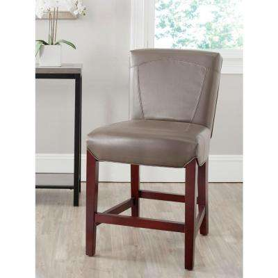 Ken 23.8 in. Clay Cushioned Bar Stool
