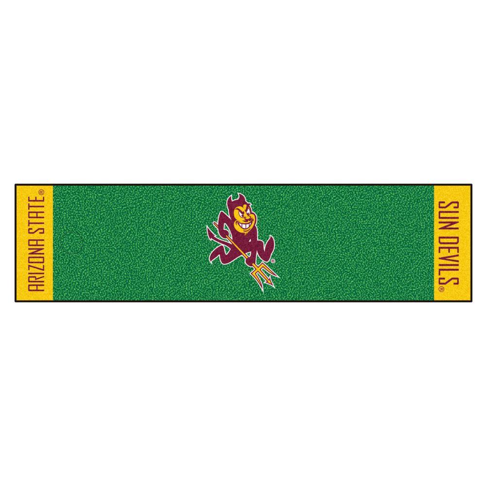 NCAA Arizona State University 1 ft. 6 in. x 6 ft. Indoor 1-Hole Golf Practice Putting Green