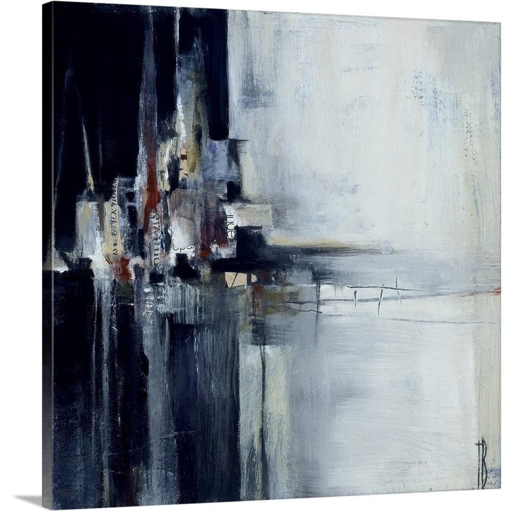 "GreatBigCanvas ""Dark Square"" by Terri Burris Canvas Wall Art"