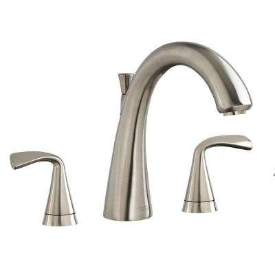 Fluent 2-Handle Deck-Mount Roman Tub Faucet in Brushed Nickel