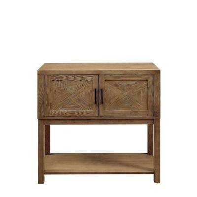 Susan Natural Tone Hallway Cabinet with Double Door