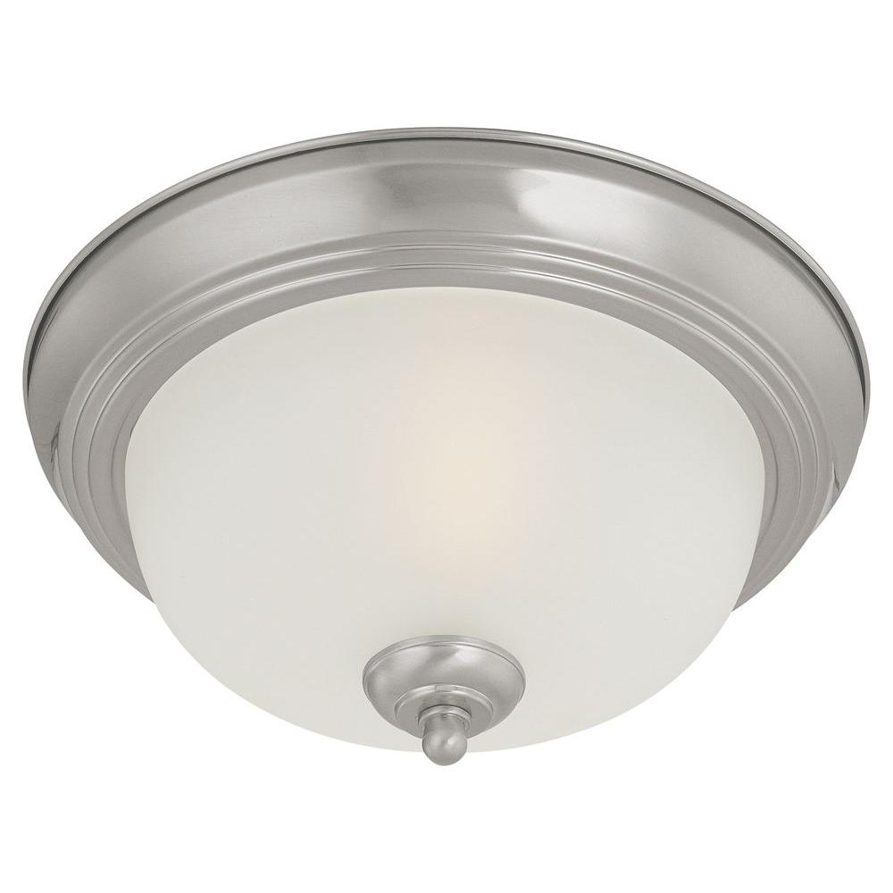 Thomas Lighting 1-Light Brushed Nickel Ceiling Flush Mount