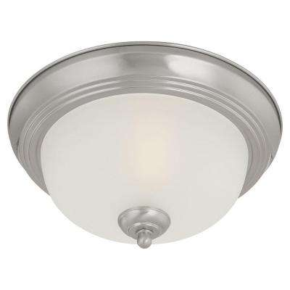 1-Light Brushed Nickel Ceiling Flushmount