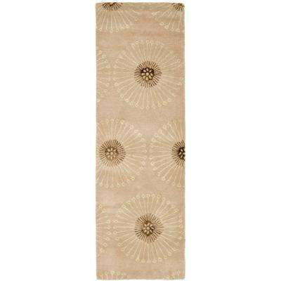 Soho Beige/Brown 3 ft. x 6 ft. Runner Rug
