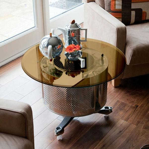 Fab Glass And Mirror 24 In Round 1 2 In Thick Beveled Tempered Bronze Glass Table Top Brz 24rt12thbet The Home Depot