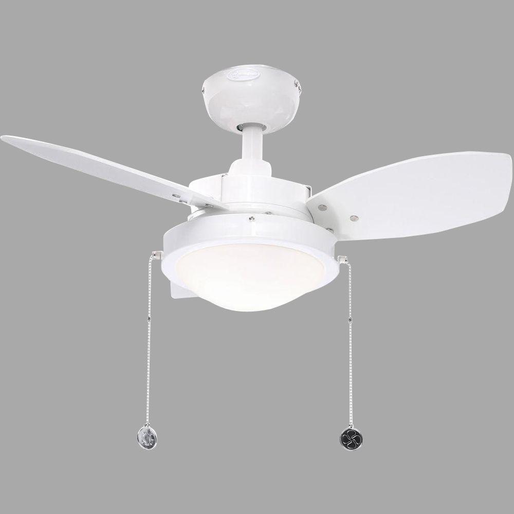 Wengue 30 in. White Ceiling Fan