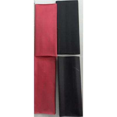 Heat Shrink 4 in. Battery Cable Identification, Black/Red (4-Pack)