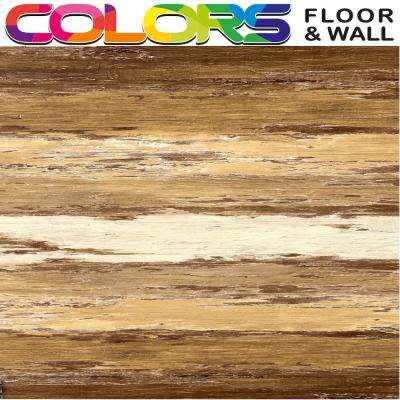Colors Floor and Wall DIY Old Brown Wood Aged 6 in. x 36 in. Painted Style Luxury Vinyl Plank (30 sq. ft. / case)