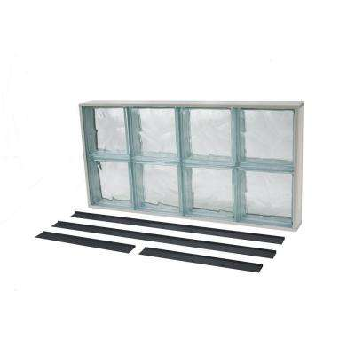 NailUp2 Wave Pattern Solid Glass Block Window