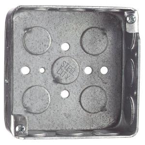 Steel City 2-Gang 4 inch x 1-1/2 inch Deep Square Steel Electrical Box (Case of 50) by Steel City