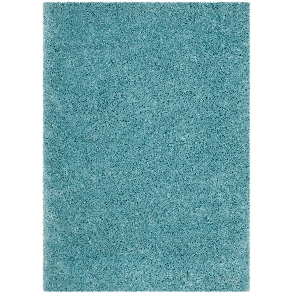 Safavieh Himalaya Turquoise 4 Ft X 4 Ft Round Area Rug: Safavieh Polar Shag Light Turquoise 4 Ft. X 6 Ft. Area Rug